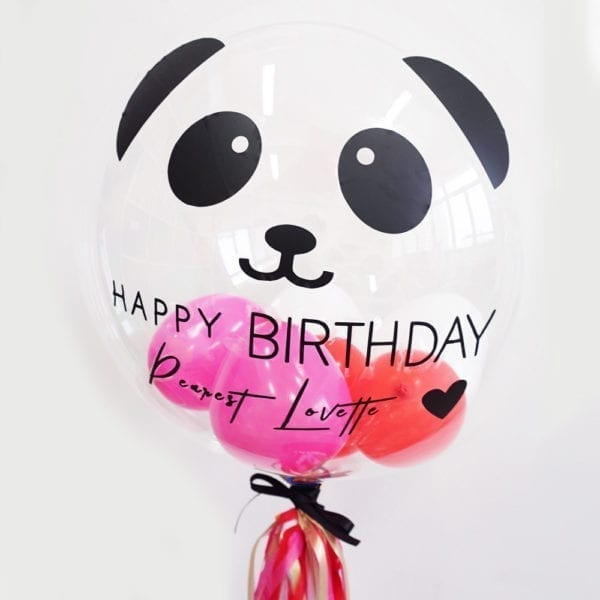 Customise Personalised helium mini hearts birthday party balloon with tassels 24 inch