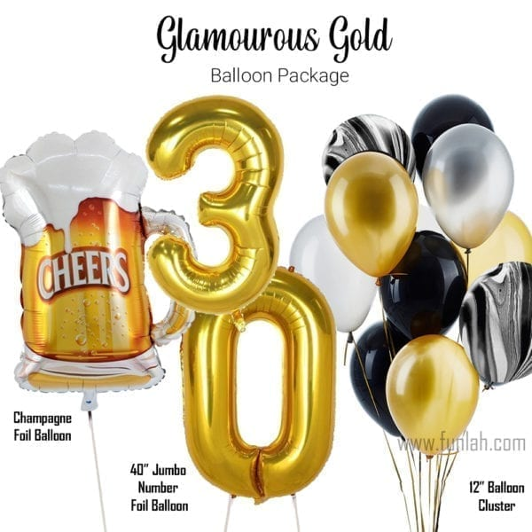 Balloon Package glamourous gold 2
