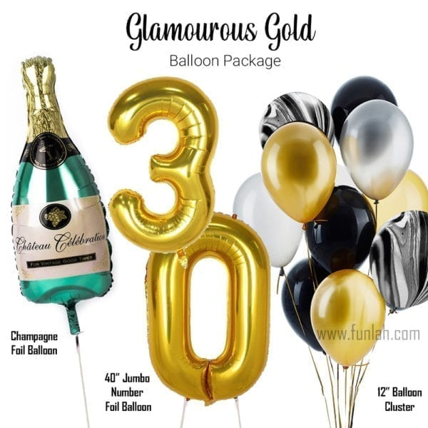 Balloon Package glamourous gold