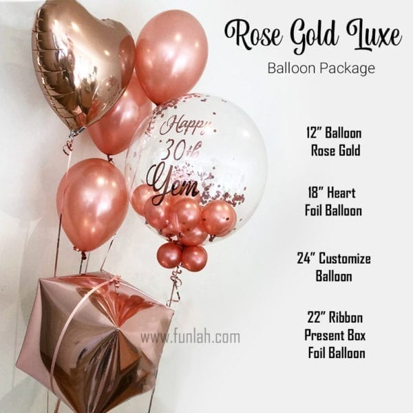 Balloon Package rose gold luxe