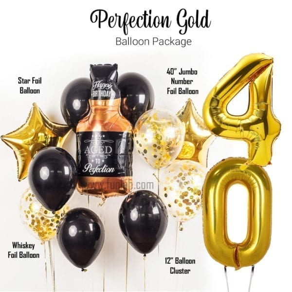 Funlah Balloon Package perfection gold