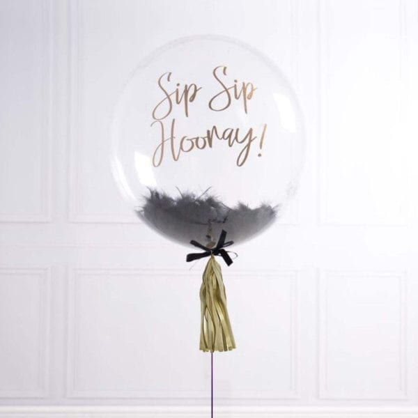 Funlah Customize Balloon with Black Feathers 1