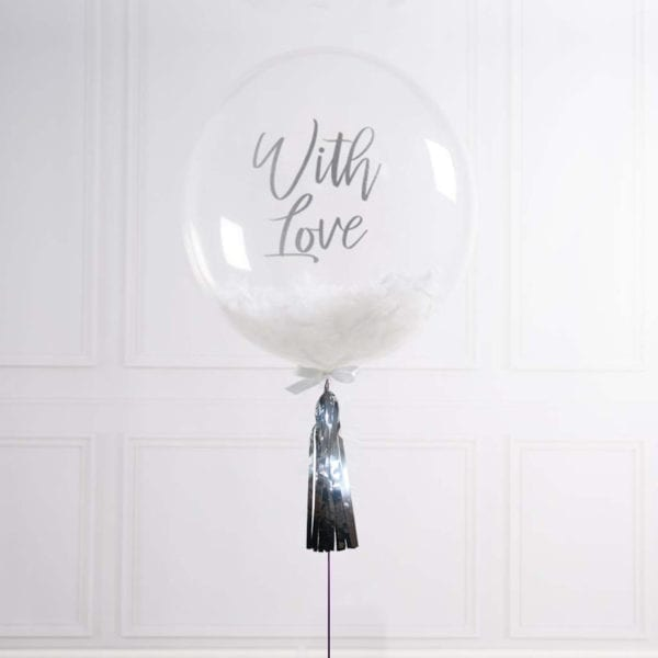 Funlah Customize BaFunlah Balloon with pink feathers 1lloon with White Feathers 1