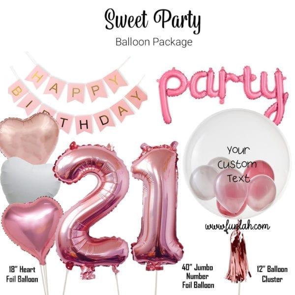 Funlah Balloon Package Sweet Party
