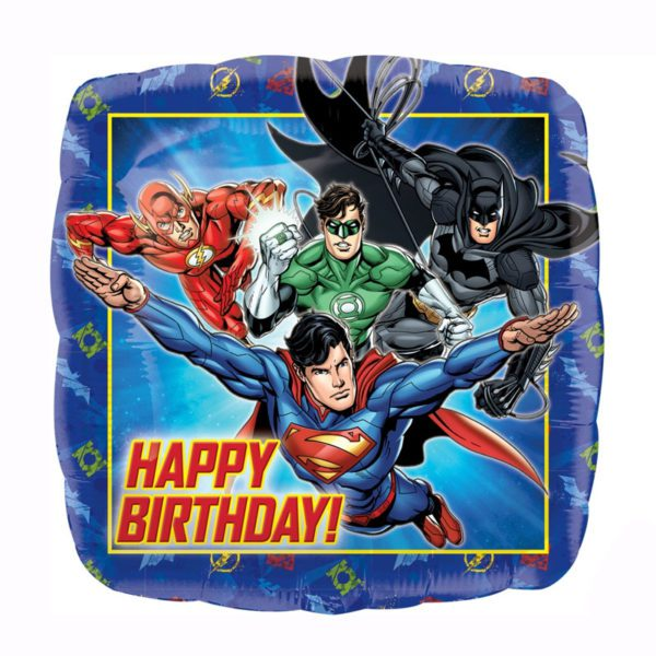 Justice league hpapy birthday foil balloon