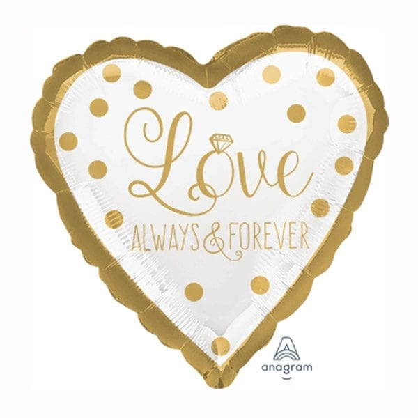 Love always and forever wedding foil balloon