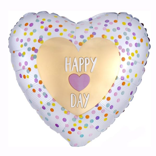 Standard infused happy day love helium foil balloon