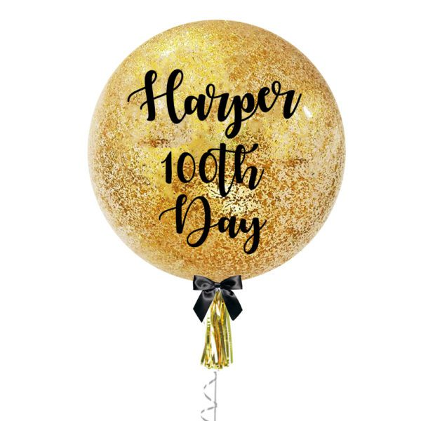 36 inch Personalized jumbo balloon with messy confetti