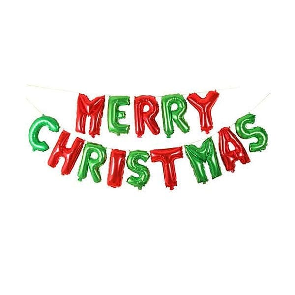 Merry Christmas Classic Foil Letter Balloon