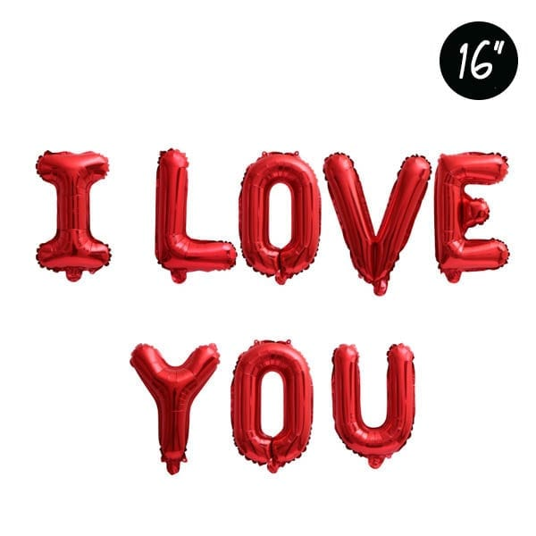 16 inch I LOVE YOU red foil balloon
