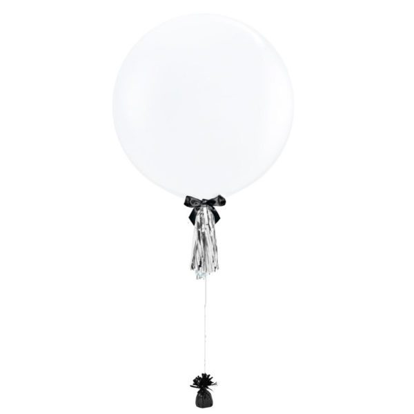 36 inch helium latex balloon clear with tassel