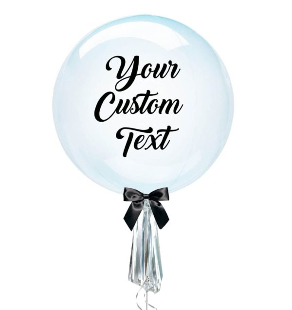 Customize Anagram bubble balloon blue clearz with tassel