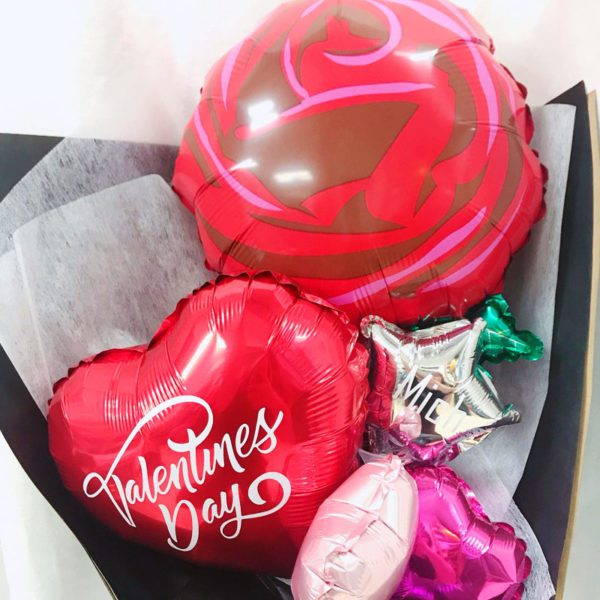 Red Rose Balloon Bouqeut Valentines Special