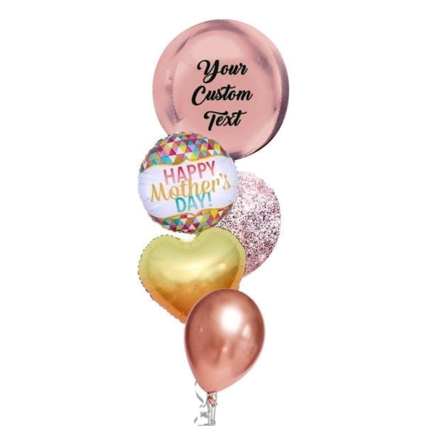 Happy Mother's Day geometric balloon bouquet