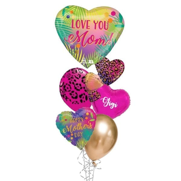 Mothers Day Wild Tropical Balloon Bouquet