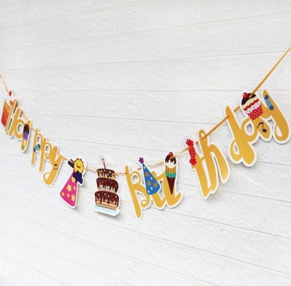 Ice cream And Sweets Birthday Bunting