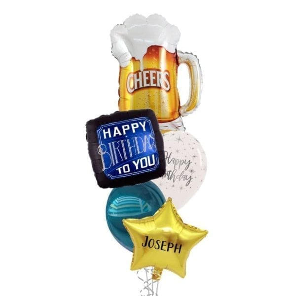 Cheers Beers To You Birthday Balloon Bouquet