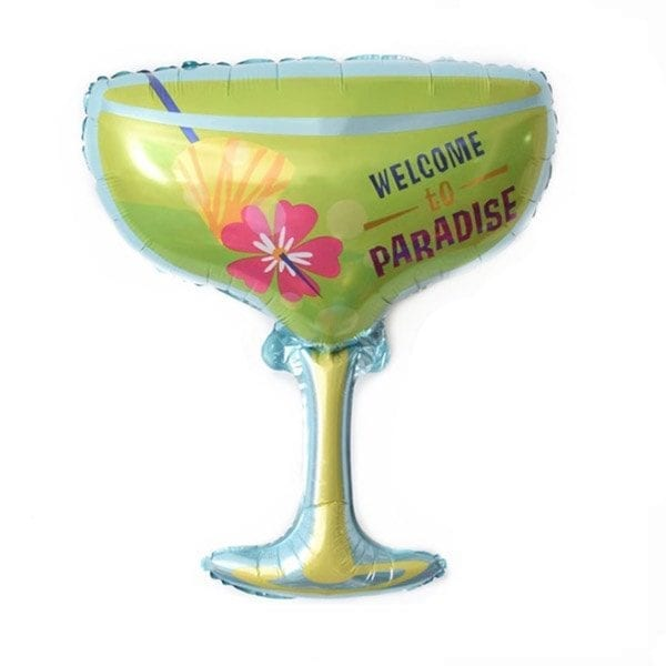 welcome to paradise foil balloon