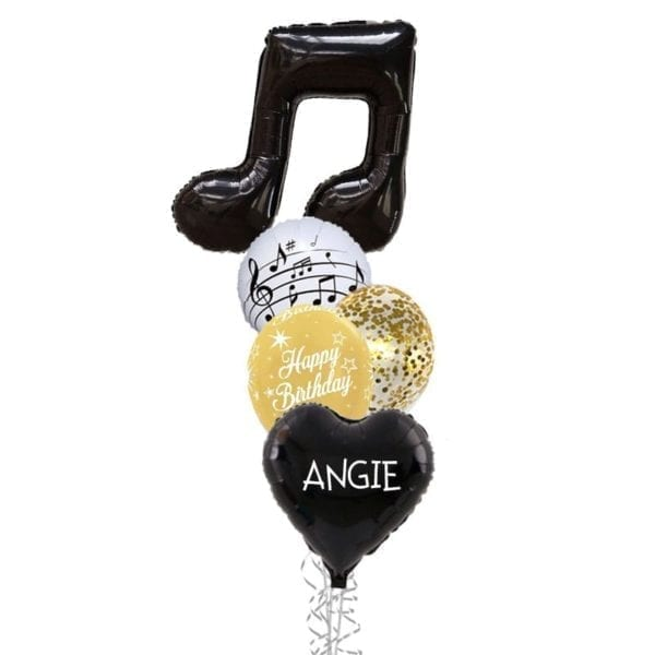Double Musical Note Birthday Balloon Bouquet