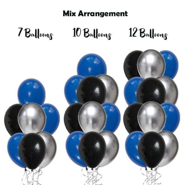 Build my own balloon bouquet chrome solid mix