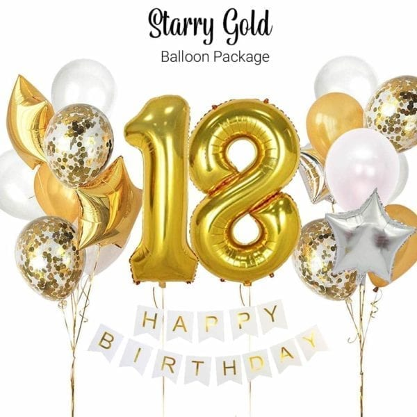 Starry Gold Balloon Package