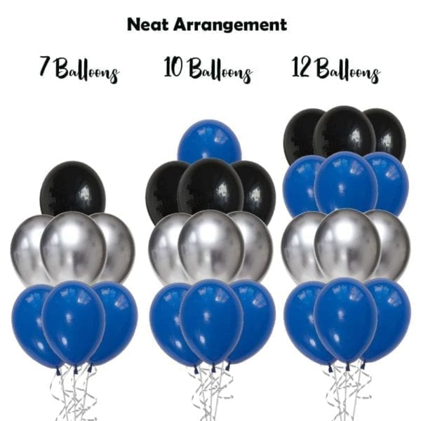 build balloon bouquet chrome solid neat