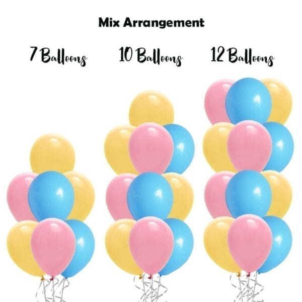 build balloon bouquet solid mix