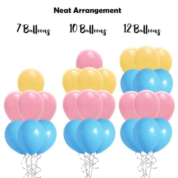 build balloon bouquet solid neat