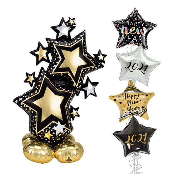 Black Gold Star Airloonz New Year