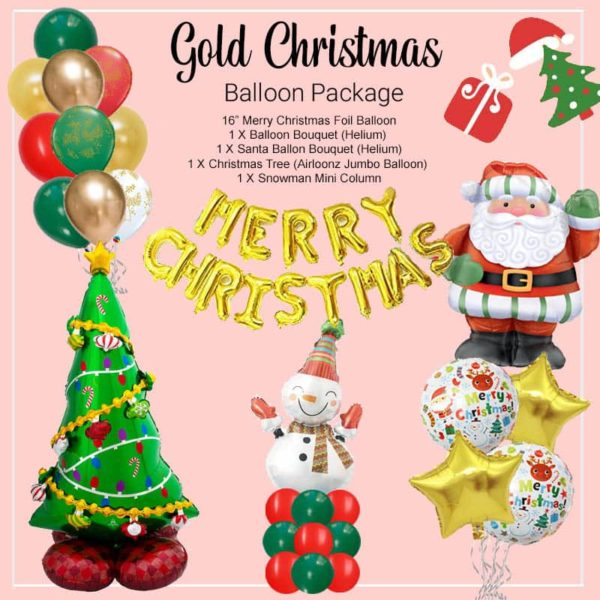 Gold Christmas Balloon Package