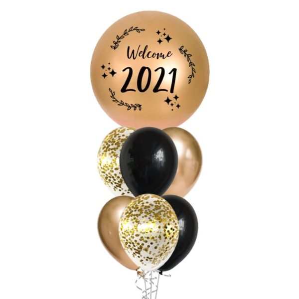 New Year Welcome 2021 Balloon Bouquet