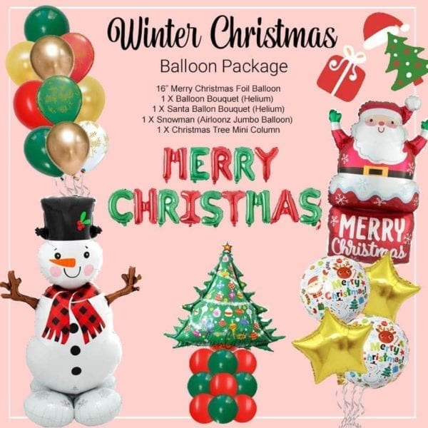 Winter Christmas Balloon package