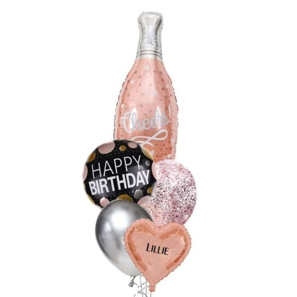 Cheers Champagne balloon bouquet