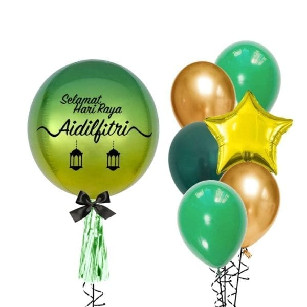 Hari Raya Orbz With Side Bouquet Green Package