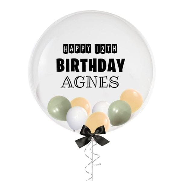 """24"""" Personalised Birthday Banner Balloon with Mini Balloons"""