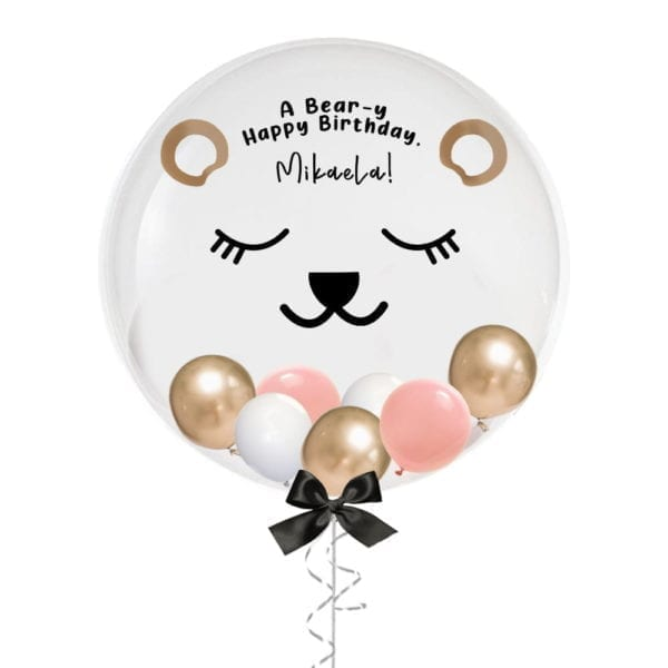 24″ Personalised Cute Bear Balloon With Mini Balloons