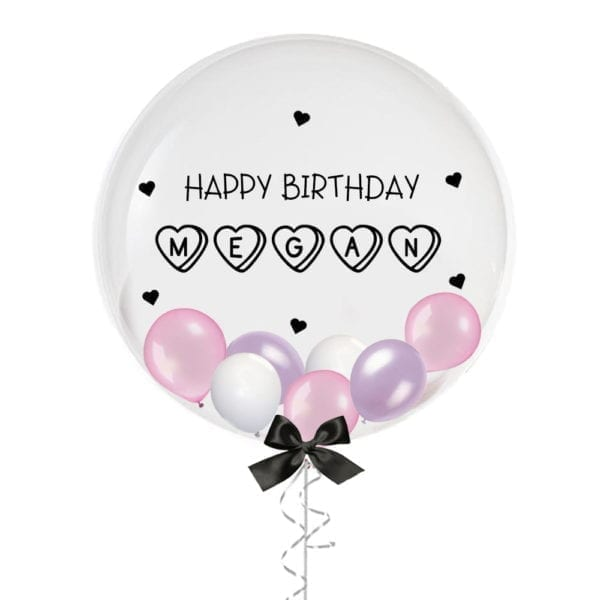 """24"""" Personalised Candy Hearts Birthday Balloon with Mini Balloons"""