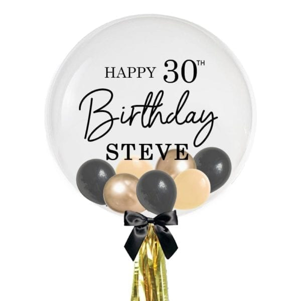 """24"""" Personalised Happy 30th Birthday Balloon with Mini Balloons"""