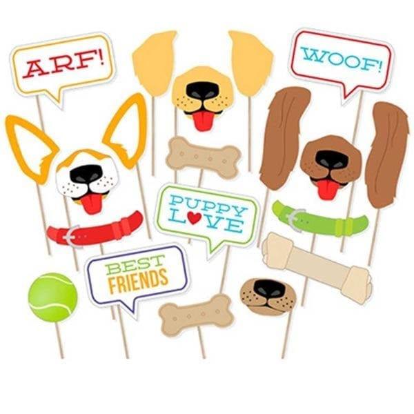 Dogs Puppy Love Photobooth Props 20 Pcs set