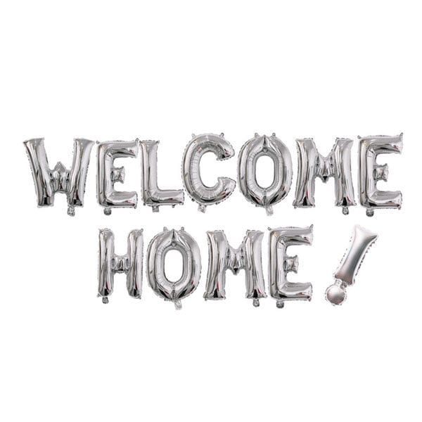 16 inch welcome home silver letter balloon