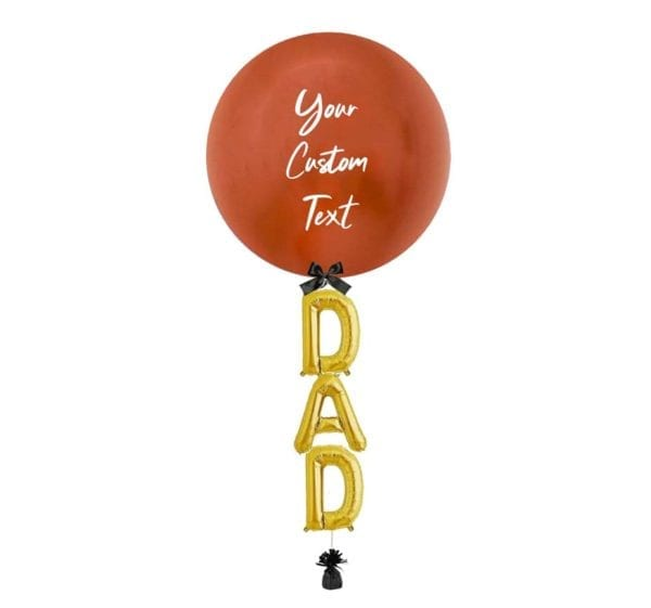 24 inch Customize Dad Balloon Copper