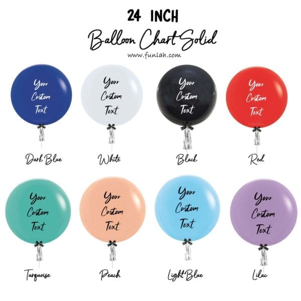 24 inch solid balloon chart FATHERS DAY