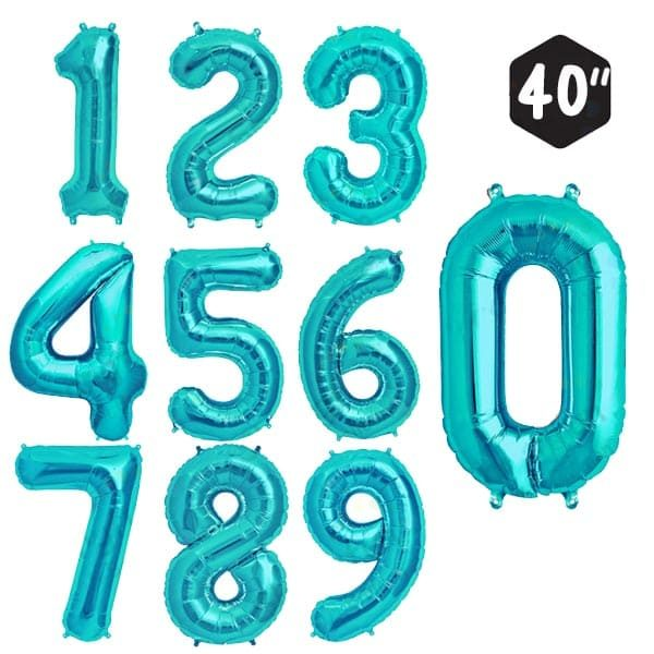 40 INCH JUMBO EMERALD NUMBER FOIL BALLOON letters