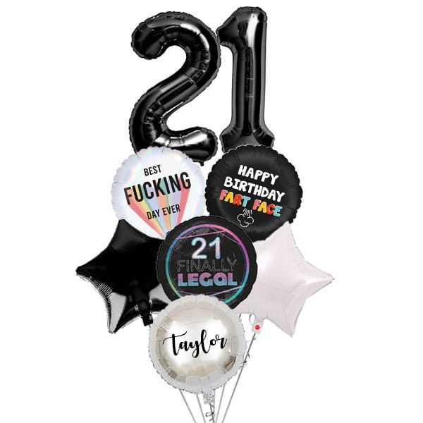 [Explicit-Series] The Ultimate Birthday Fart Face Giant Balloon Bouquet with Number Balloon