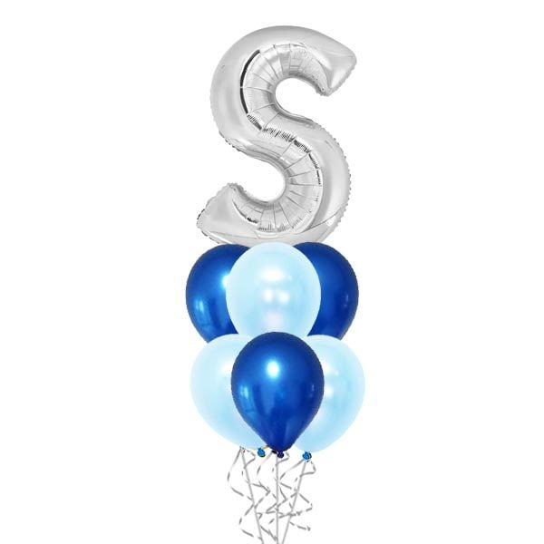 40 Inch Silver Alphabet With Balloon Bouquet