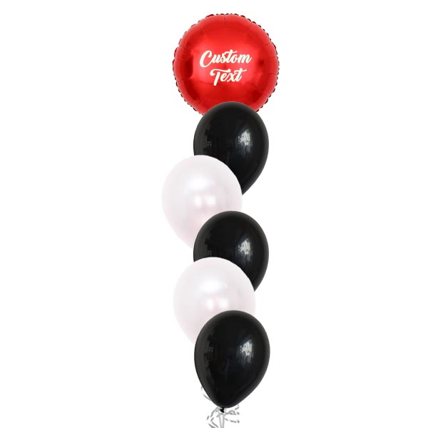 Layered Red Sphere Helium Balloon Bouquet