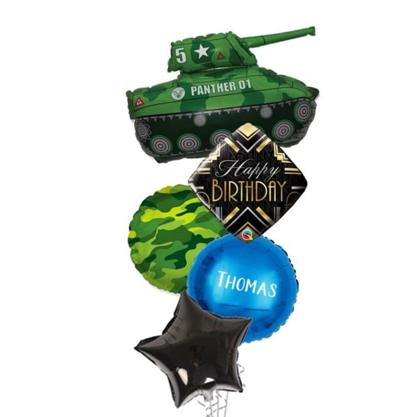 Panther One Tanker Birthday balloon bouquet