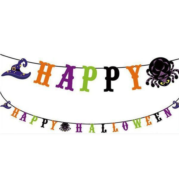 Happy-Halloween-Wizards-&-Witches-Hat-Paper-Bunting