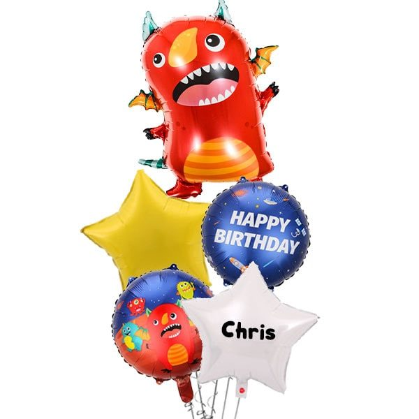 Red Flying Space Monster Balloon Bouquet